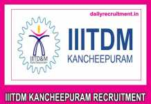 IIITDM Kancheepuram Recruitment 2019