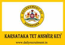 Karnataka TET Answer Key 2019