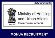 MOHUA Recruitment 2019