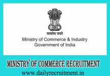 Ministry of Commerce Recruitment 2019