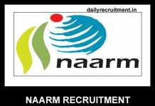 NAARM Recruitment 2019