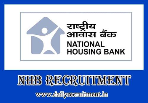 NHB Recruitment 2020