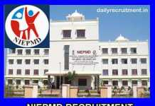 NIEPMD Recruitment 2019