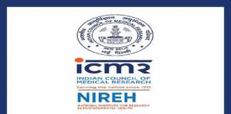 NIREH Recruitment 2019