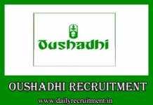 Oushadhi Recruitment 2019