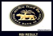 RBI Result 2019