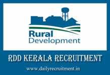 RDD Kerala Recruitment 2019