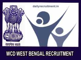 WCD West Bengal Recruitment 2019