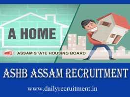 ASHB Assam Recruitment 2019