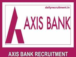 Axis Bank Recruitment 2019