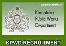 KPWD Recruitment 2019