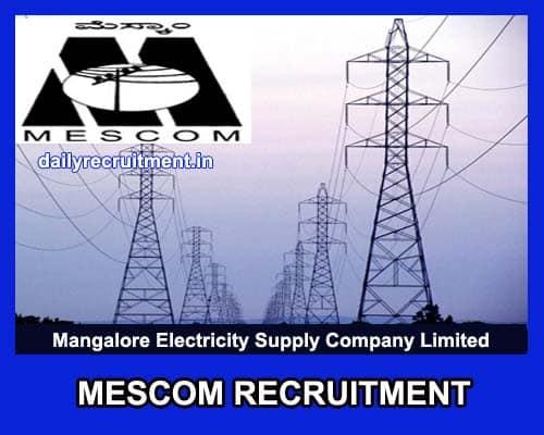 MESCOM-Recruitment Govt Job Form Delhi on
