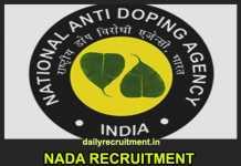 NADA Recruitment 2019