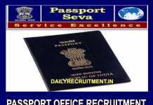 Passport Office Recruitment 2019