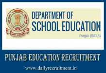 Punjab Education Recruitment 2019