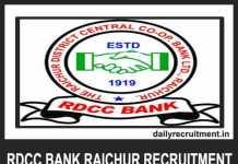 RDCC Bank Raichur Recruitment 2019