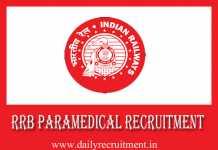 RRB Paramedical Recruitment 2019