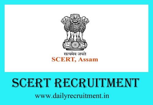 SCERT Recruitment 2019