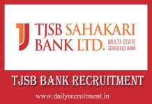 TJSB Bank Recruitment 2019