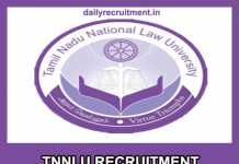 TNNLU Recruitment 2019