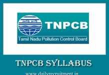 TNPCB Syllabus 2019