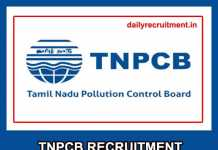 TNPCB Recruitment 2019