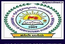 UAS Raichur Recruitment 2019