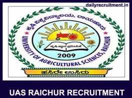 UAS Raichur Recruitment 2019