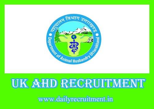 UK AHD Recruitment 2019