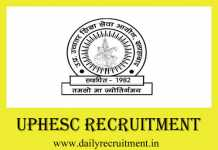 UPHESC Recruitment 2019