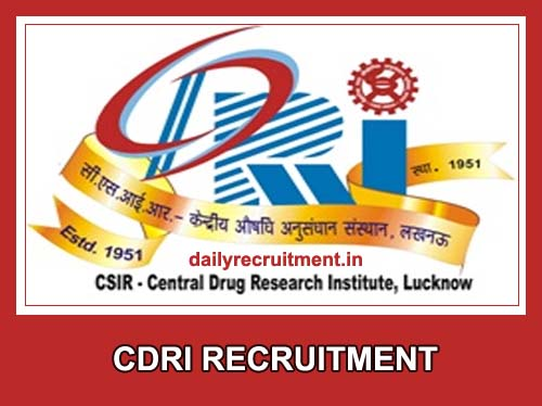 CDRI Recruitment 2020