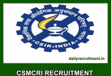 CSMCRI Recruitment 2020
