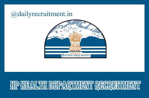 HP Health Department Recruitment 2019