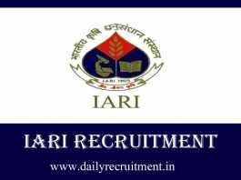 IARI Recruitment 2019