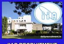 IIAP Recruitment 2019