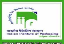 Indian Institute of Packaging Recruitment 2019