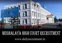 Meghalaya High Court Recruitment 2019