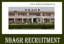 NBAGR Recruitment 2019