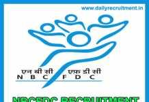 NBCFDC Recruitment 2019