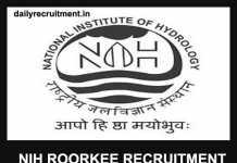 NIH Roorkee Recruitment 2019