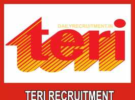 TERI Recruitment 2019