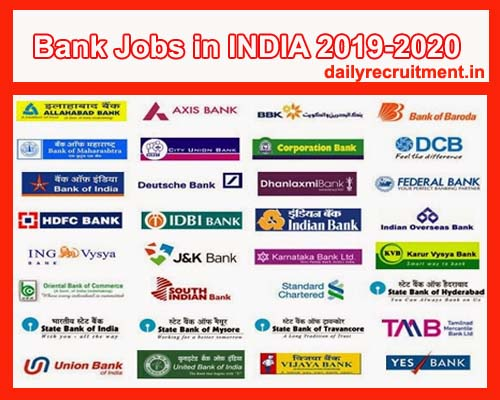 Bank Jobs 2019 Notifications - 11382+ Job Vacancies- Latest