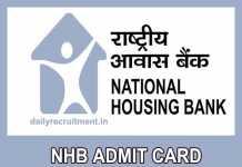 NHB Admit Card 2019