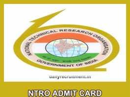 NTRO Admit Card 2019