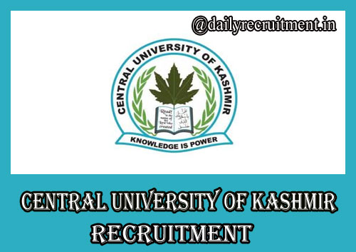 Central University of Kashmir Recruitment
