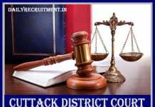 Cuttack District Court Recruitment 2019