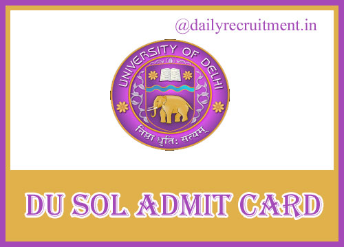 DU May June Admit Card 2021