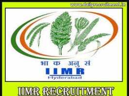 IIMR Recruitment 2019