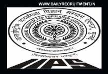 IIPS Recruitment 2019
