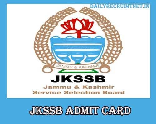 JKSSB Accounts Assistant Admit Card